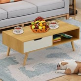 Horrocks Ancient Style Coffee Table with Storage Wrought Studio