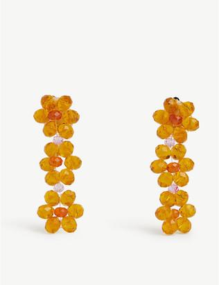 Stine Goya Blossom acetate flower bead earrings