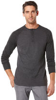 Perry Ellis Long Sleeve Striped Henley