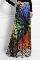 Etro Printed stretch-silk maxi skirt