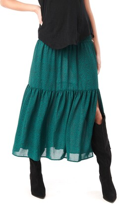 Loyal Hana Jessie Smock Layered Ruffle Maternity Maxi Skirt