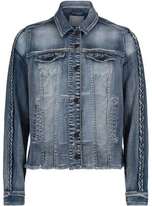 Betty Barclay Denim Jacket With Plaited Trim