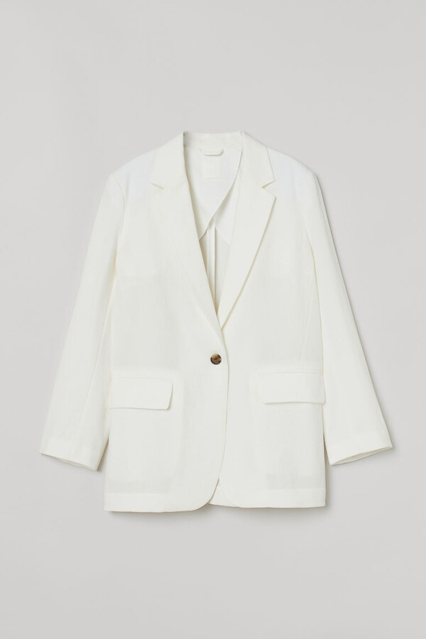 Thumbnail for your product : H&M Lyocell-blend Blazer - White