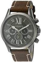 Akribos XXIV Men's AK897SSB Round Black Dial Three Hand Quartz Stainless Steel Strap Watch