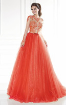 Tarik Ediz Illusion Tulle Gown 92579