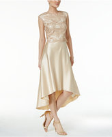 Betsy & Adam 2-Pc. Lace Satin High-Low Dress