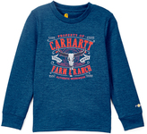 Carhartt Heather Olympian Blue 'Farm & Ranch' Tee - Boys