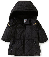 Starting Out Baby Girls 3-24 Months Faux-Fur Hooded Puffer Coat