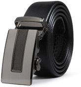 ITIEZY Genuine Leather Belt for Men Ratchet Automatic Buckle (Sliding Buckle) 35mm Wide