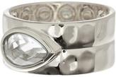 Melinda Maria Ryan Teardrop Stone Hammered Band Ring - Size 6