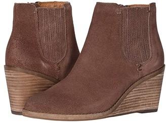 Frye Kaye Chelsea (Aubergine Suede) Women's Boots