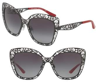 Dolce & Gabbana Dolce&Gababana 56mm Gradient Square Sunglasses