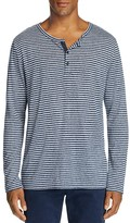 Onia Miles Striped Long Sleeve Henley Tee