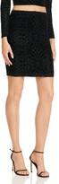 Aqua Burnout Mini Skirt