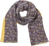Forzieri Maxi Paisley Print Silk Reversible Men's Scarf