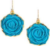 Devon Leigh Turquoise Flower Drop Earrings