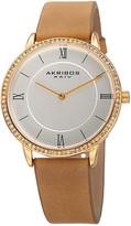 Akribos XXIV Women's Swarovski Leather Watch