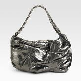 Notting Hill Pleated Python Shoulder Bag