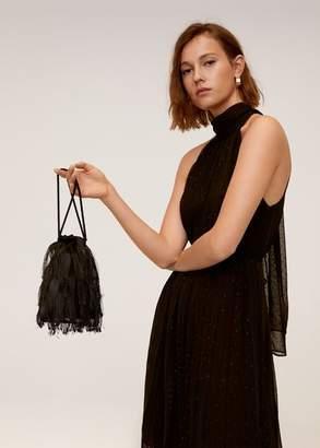 MANGO Fringe bucket bag black - One size - Women