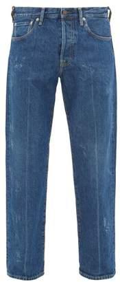 Acne Studios 1996 High-rise Straight-leg Jeans - Mens - Dark Blue