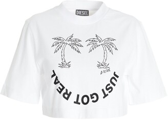 Diesel T-Recrop-B2 Cropped T-Shirt