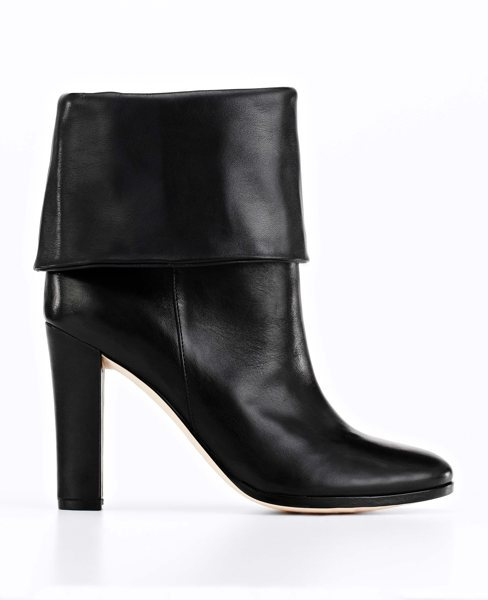 Ann Taylor Ingrid Foldover Leather Booties