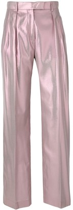 Alberta Ferretti Shimmery Tailored Trousers
