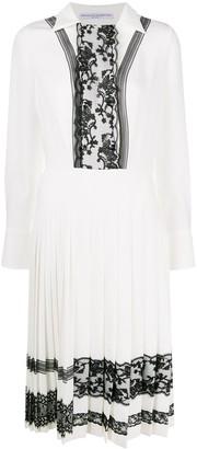 Ermanno Scervino Lace Trim Midi Dress