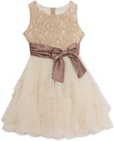 Rare Editions Glitter-Lace Special Occasion Dress, Little Girls (2-6X)