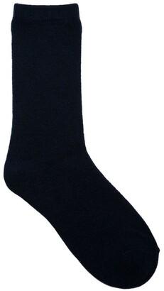 Simon De Winter Plain Wool Blend Crew Sock 12-116