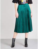 Mo&co. Pleated Velvet Skirt