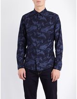 Armani Jeans Camouflage-print Cotton-chambray Shirt