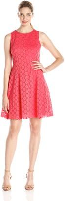 Tiana B Women's Lace Dress with Scalloped Hem