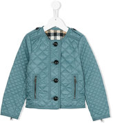 Burberry collarless diamond quilted jacket - kids - Cotton/polyester - 6 yrs