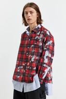 Ka Wa Key KA WA KEY Devore Two Layer Plaid Button-Down Shirt