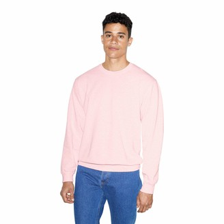American Apparel Men's French Terry Long Sleeve Crewneck Pullover