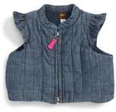 Tea Collection Infant Girl's Citizen Chambray Vest