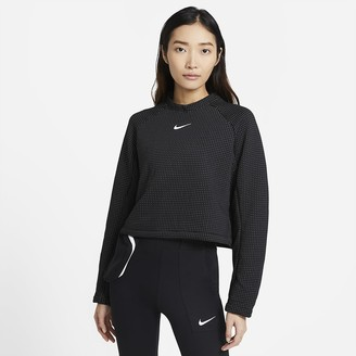 Nike Women's Long-Sleeve Top Sportswear Tech Fleece