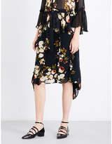 Preen Line Elaine ruffled floral chiffon skirt