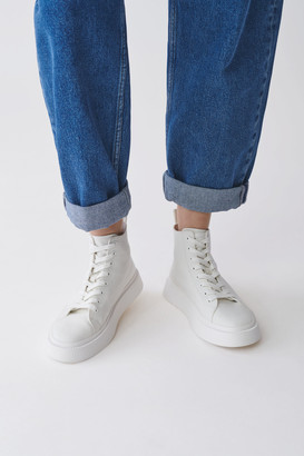 Cos Cotton Canvas High-Top Sneakers