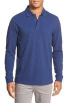 Nordstrom Long Sleeve Piqué Cotton Polo (Big)