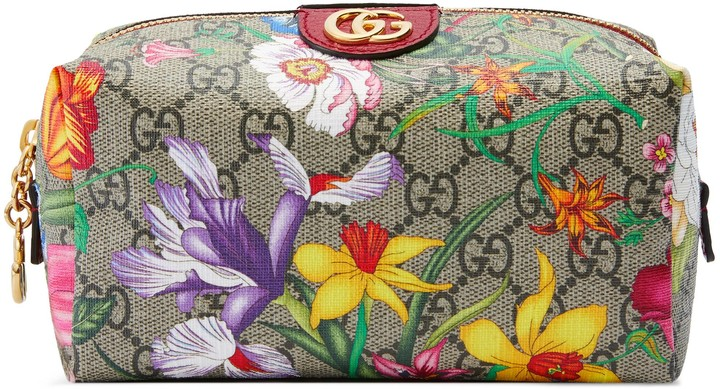 Gucci Ophidia GG Flora cosmetic case