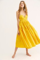 Free People Kaley Midi Dress by Free People, Yellow, US 0
