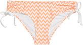 H&M Drawstring Bikini Bottoms - Apricot/zigzag - Ladies