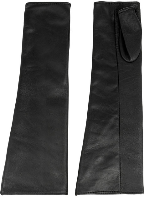 Jil Sander Fingerless leather gloves