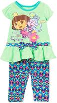 Children's Apparel Network Dora the Explorer Teal Tunic & Leggings - Infant, Toddler & Girls