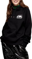 Topshop Love Nation Graphic Pullover Hoodie