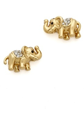 Juicy Couture Pave Elephant Stud Earrings