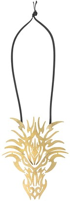 Josie Natori Dragon Head Cord Necklace