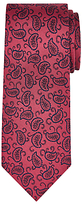 John Lewis Woven in Italy Paisley Print Silk Tie, Burgundy